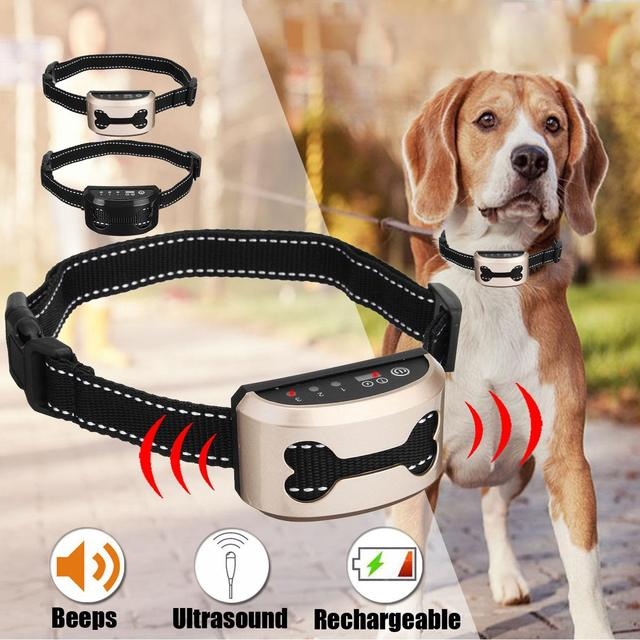 Electric Bark Control Collar for Dog Collar Anti Bark Dog Training Rechargeable Waterproof Shock Collar Auto Anti Bark Device 1