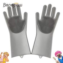Remove-Dog-Glove Pet-Grooming-Brush Massage-Hair Anti-Scratch Shedding Pet-Shower Benepaw
