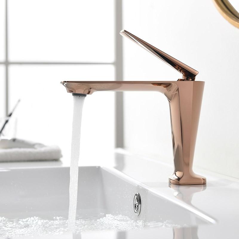 Латунный смеситель для ванной комнаты, однорычажный смеситель для воды, матовый черный/хром/розовое золото/золото, смесители для ванной комнаты|Смесители для бассейна| | АлиЭкспресс