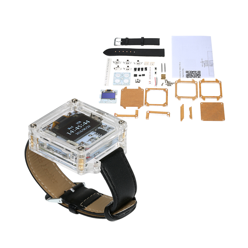 SCM Awesome DIY Kit Electronic Watch Transparent LED Watch DIY LED Digital Tube Wristwatch Assemble easily as a gift(China)