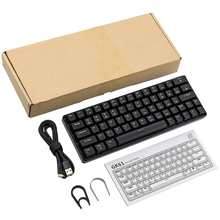 Mechanical-Keyboard Gk64-64-Keys Hot Swappable Gateron-Switch Backlit Gaming RGB NEW