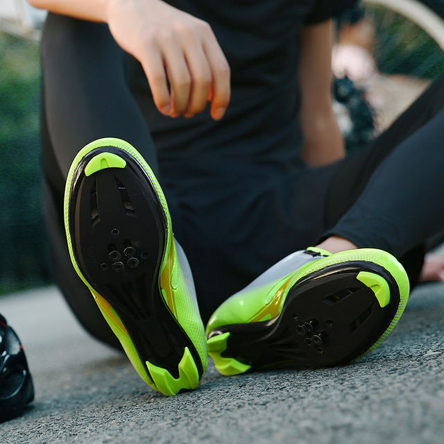 FAD VELOCIDADE New Unissex Sapatos de Bicicleta de Estrada Sapatos de Ciclismo Sapatos de Bicicleta Mtb ultraleves tênis de bicicleta auto-bloqueio Tamanho respirável 46 4