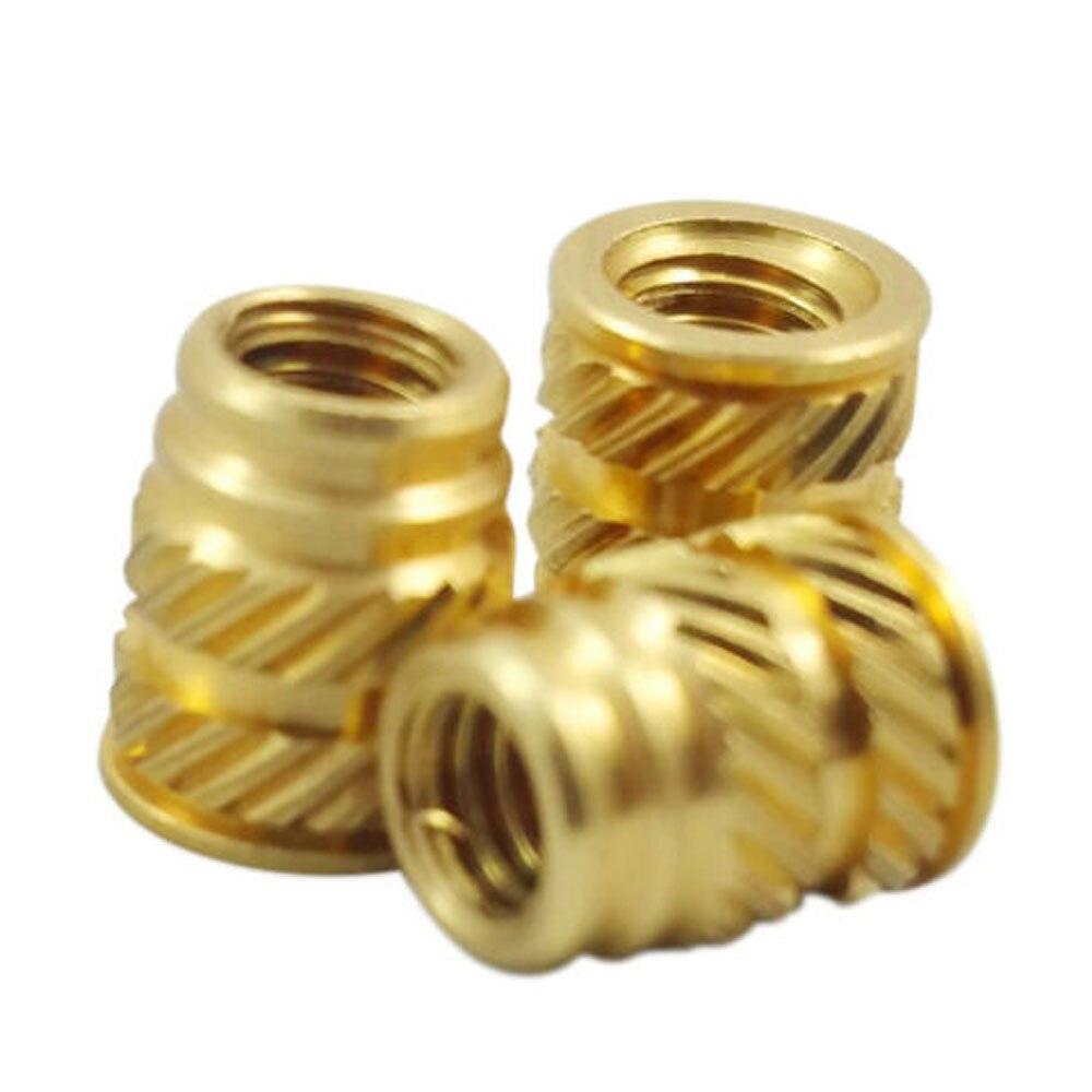 100pcs M3 3mm M3-0.5 Brass Threaded Metal Heat Fixing Screw Insert 3D Printing Galvanized Self Tapping Insert Screw Bushing