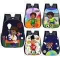 Коричневый детский школьный рюкзак для мальчиков  школьный рюкзак с принтом в африканском стиле для мальчиков  маленький детский рюкзак  Кн...
