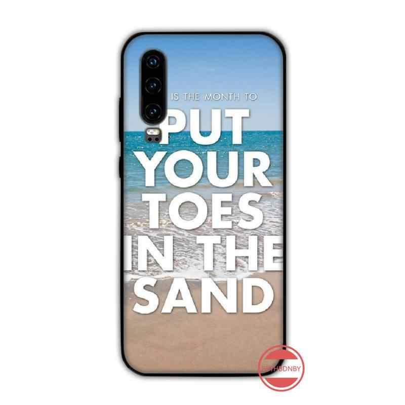 Bãi Biển Mùa Hè Biển Hawaii Đại Dương Lòng Bàn Tay Treephone Ốp Lưng Capa Funda Cho Huawei P9 P10 P20 P30 Lite 2016 2017 2019 plus Pro P Thông Minh