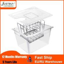 Prix usine adapté pour la plupart Sous Vide cuiseur machine 11L conteneur avec support en acier inoxydable séparateurs détachables séparateur
