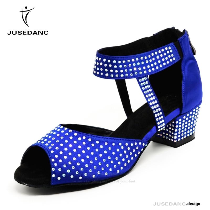 Танцевальная обувь; Танцевальная обувь для бальных танцев; Обувь для сальсы; Женская обувь для танцев; Удобная обувь на низком каблуке; JuseDanc