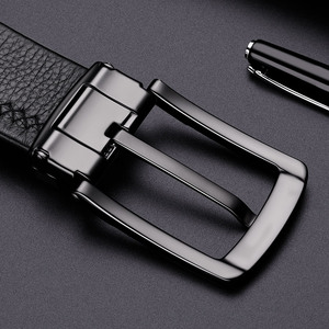 Image 5 - WilliamPolo brand design New casual business fashion Belt full grain leather Belt Silvery Belt Mens belt Pin Buckle Waist Belt