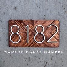 127 мм большой номер дома Huisnummer бронзовые цифры на двери гостиничных номеров, домов, квартир номер наружного адрес Номера для умного дома Numeros Puerta de la casa hausnummer