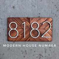 127mm Große Haus Anzahl Huisnummer Hotel Hause Tür Anzahl Outdoor Adresse Zahlen für Haus Numeros Puerta de la casa hausnummer