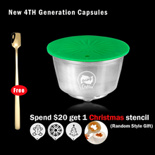 iCafilas Stainless Steel Crema Coffee Capsule For Nescafe Dolce Gusto Reusable Refillable Dolci Gusto Coffee Pod Filters Baskets