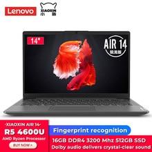 Ordinateur portable Lenovo Xiaoxin Air 14 AMD Ryzen 5 4600U 14 pouces FHD 512 go SSD 16 go DDR4 Windows 10 ordinateur portable avec clavier rétro-éclairé