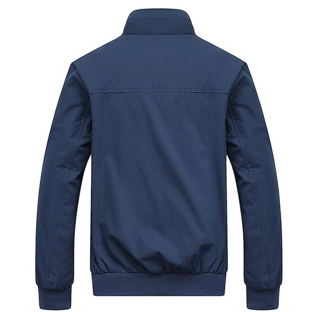 2021 Spring Autumn Casual Solid Fashion Slim Bomber Jacket Men Overcoat New Arrival Baseball Jackets Men's Jacket M-6XL Top 2