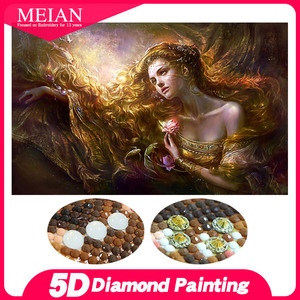 Image 1 - Meian Special Shaped Diamond Embroidery Beauty Lady 5D Diamond Painting Cross Stitch 3D Diamond Mosaic Full Drill Home Kits
