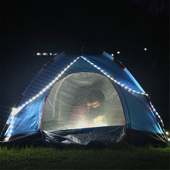 Tent LED Light Strip waterproof Outdoor Camping Warm White lamp Portable impermeable flexible neon Strips ribbon Lantern Lights 2