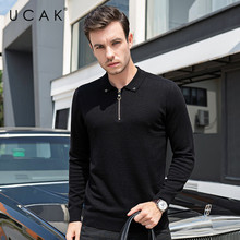 UCAK Brand Cashmere Sweaters Male 2019 Autumn Winter Men's Clothing Casual Pull Homme Pure Merino Wool Fashion Pullover U3086