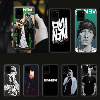 Eminem 8 Mile Rap God Phone Case cover hull For SamSung Galaxy S 5 6 7 8 9 10 20 Edge Plus E Lite Ultra black coque painting image