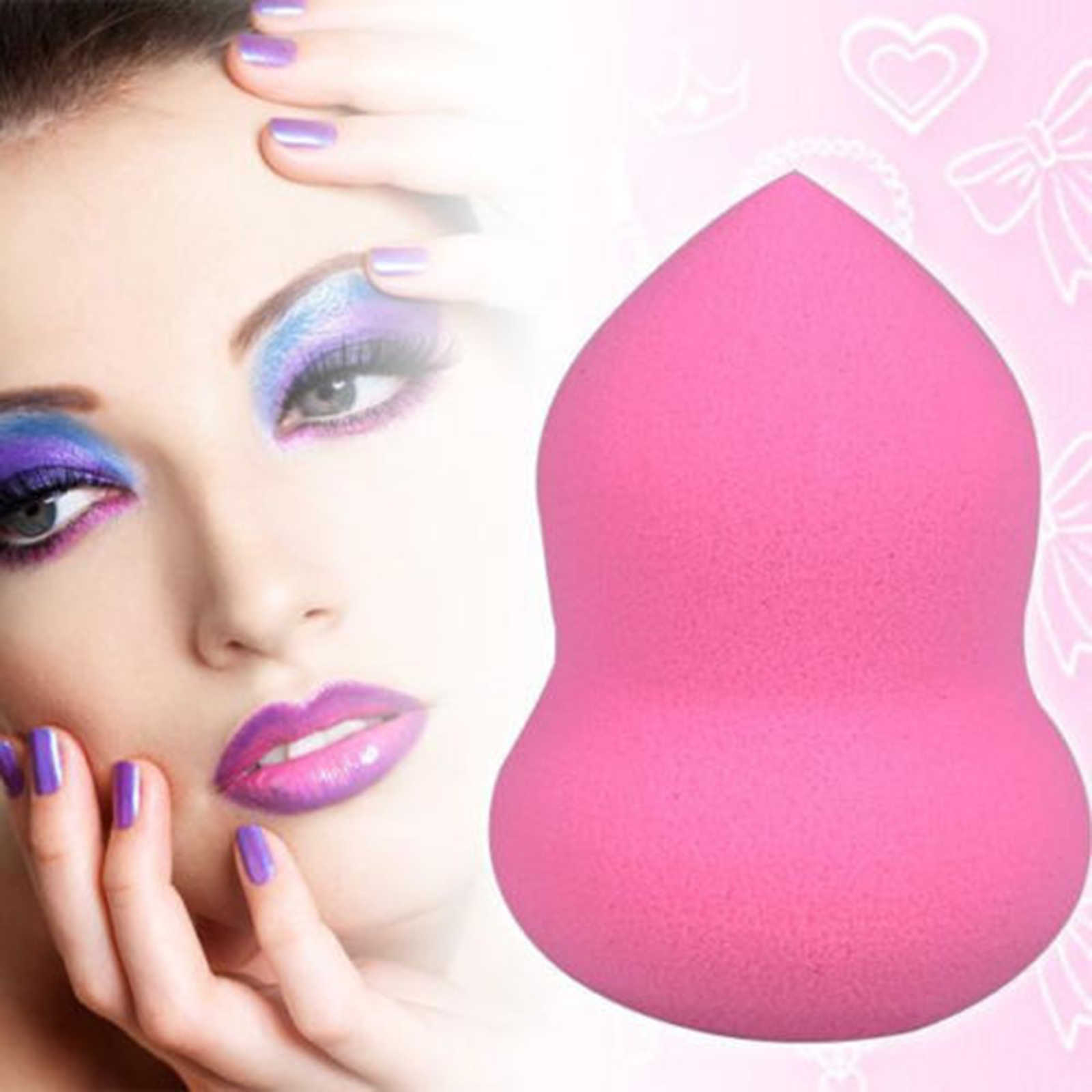 1 Pcs Soft Makeup Puff Sponge Blender Puff Flawless Smooth Powder Foundation Puff Beauty Makeup Cosmetic Tools New Colors Random