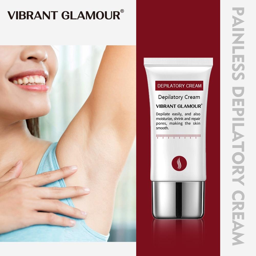 VIBRANT GLAMOUR Body Hair Removal Cream Painless Permanent Depilatory Cream Armpit Legs Arms Repair Cream Nourishing Men Women