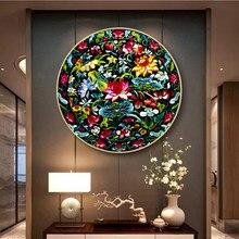 Borduurwerk Diy Chinese Stijl Lotus/Chrysant/Vis/Crane Patronen Gedrukt Kits Kruissteek Draad Handwerken Sets Thuis decor