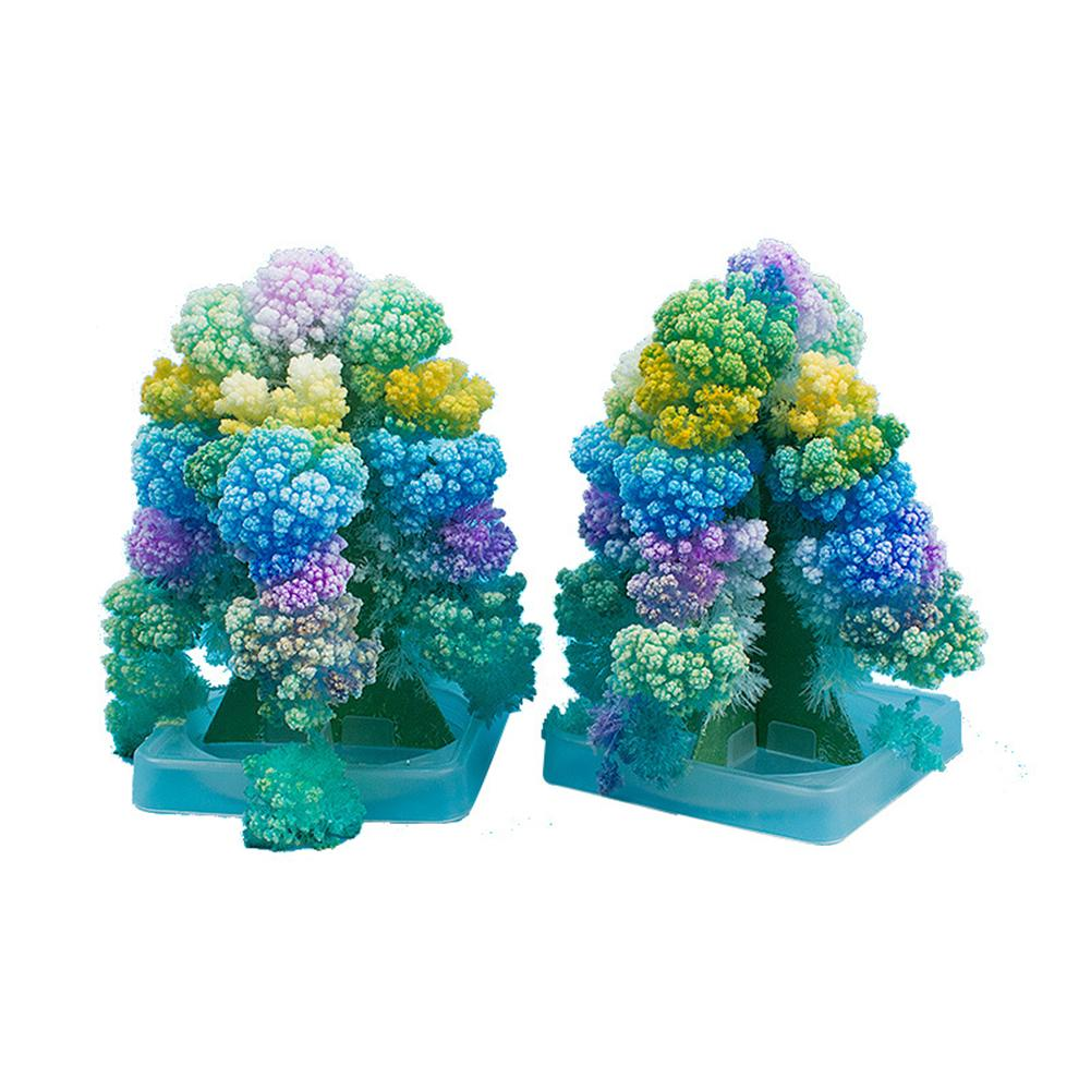 DIY Blooming Christmas Paper Tree Magic Growing Experiment Kids Toy Table Decor