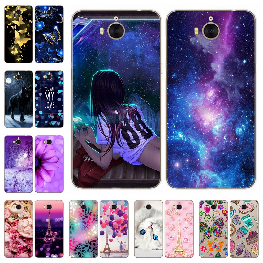 "Soft Silicone 5.0"" Huawei Y5 2017 Y6 2017 Case Cover Paint TPU Huawei Y5 2017 Phone Case for Huawei Mya-L22 Mya-u29 Fundas coque"