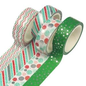 Image 2 - 12 sztuk/zestaw boże narodzenie taśmy Washi Snowflake renifer paski Kawaii taśmy maskujące naklejki papiernicze Scrapbooking szkolne