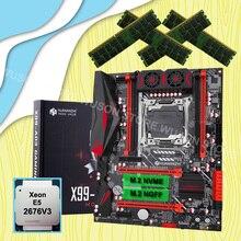 Huananzhi X99 LGA2011 3マザーボードデュアルM.2スロットcpu xeon E5 2676 V3 ram 64グラム (4*16グラム) 1866 recc最高コンボ販売