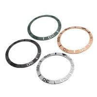 38mm zegarek ceramiczny Bezel wkładka do 40mm męski zegarek twarz średnica wewnętrzna 30.7mm zegarki wymiana akcesoria w Tarcze do zegarków od Zegarki na