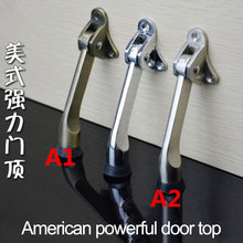 2 pcs Door Fittings Zinc Alloy Feet Kickdown Stopper Satin Chrome Lever Holder Rubber Stop Hardware door buffer