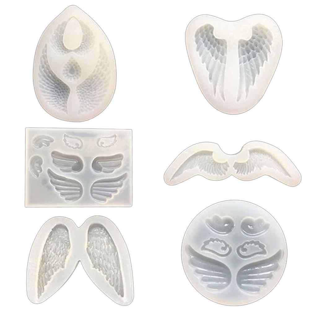 Silicone Mold Angle Wing Mirror Mould DIY Craft Jewelry Epoxy Resin Mold Tool New