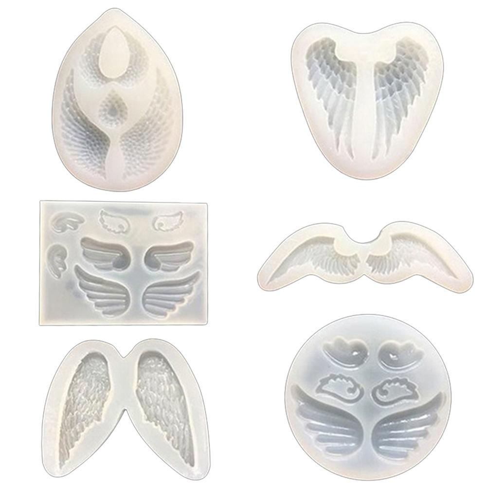 Silicon Mold Angle Wing Mirror Mould DIY Crafteed Jewelry Epoxy Resin Mold Tool Silicone Mold Is Non-toxic Durable Easy To Clea