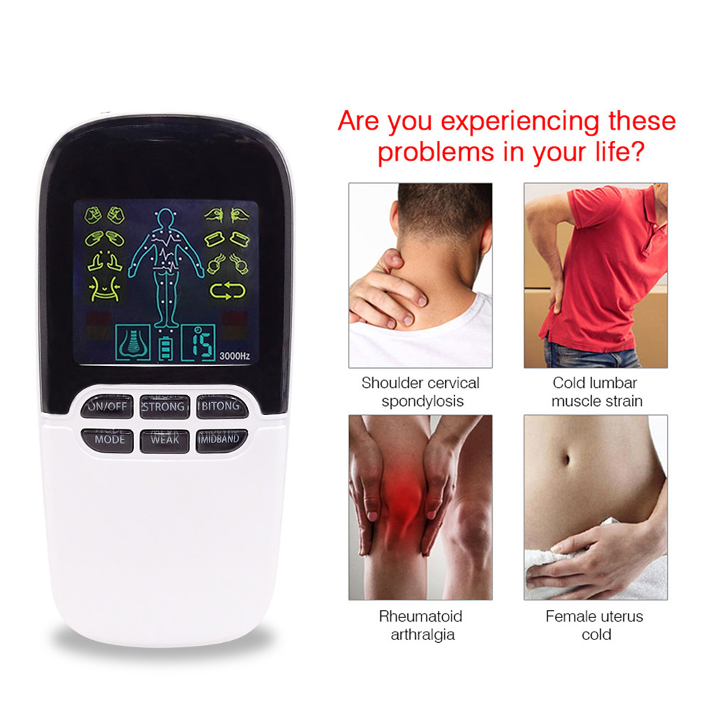 Digital Nerve Massage Machine with Rhinitis Sinusitis Cure Electronic Pulse Massage 8 Mode ElectroTherapy Back Tens Massager