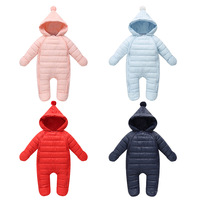 2019 New Style Children Crawling Clothes Winter Infants Baby down Cotton Warm One Piece Newborns Thick Romper