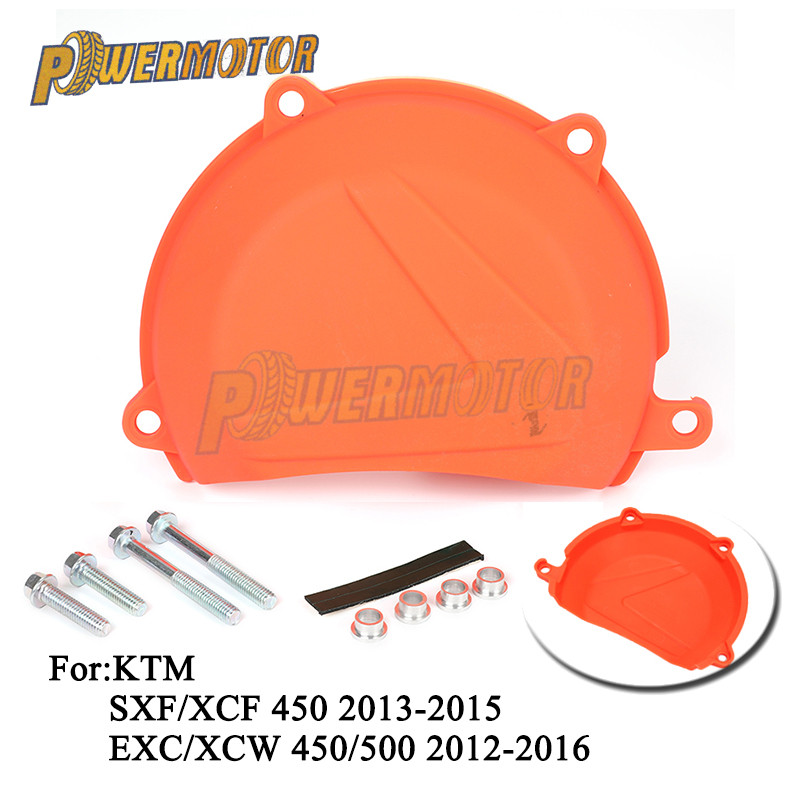 Motorcycle Clutch Protection Cover For <font><b>KTM</b></font> SXF/XCF 450 2013 2014 2015 <font><b>EXC</b></font>/XCW 450/<font><b>500</b></font> <font><b>2012</b></font> 2013 2014 2015 2016 Free Shipping image