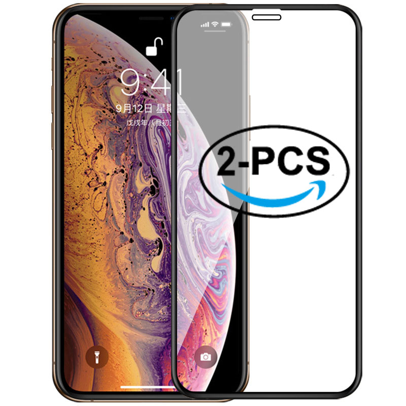 2Pcs Tempered Glass For IPhone 11 Pro Max 11 6 6S Plus 7 8 Plus Screen Protector For IPhone Xr Xs Max X 11 Pro 6 6S 7 8 Plus