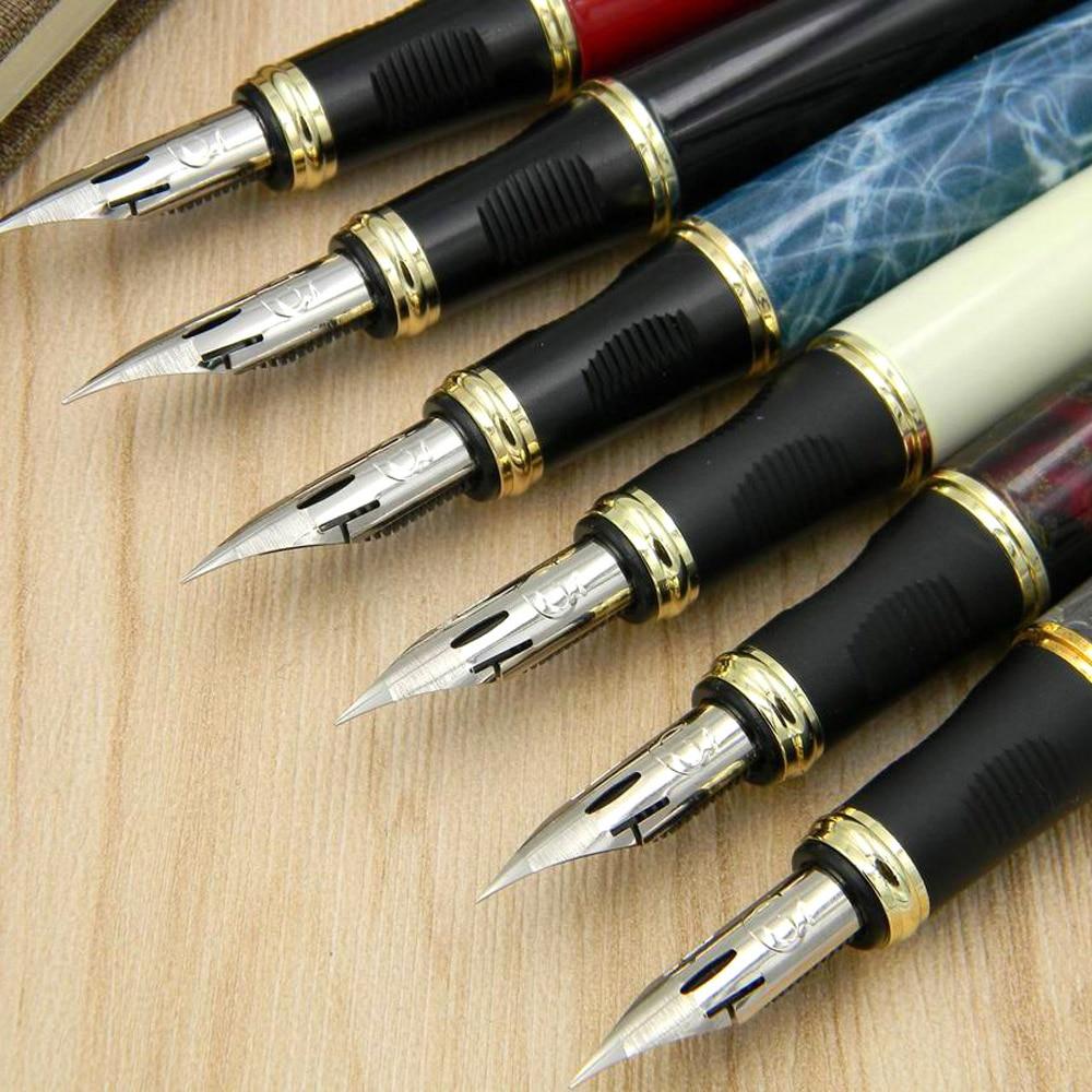 JINHAO 450 G NIB Metal GOLDEN Modified Calligraphy Round Body Flower Body English Fountain Pen