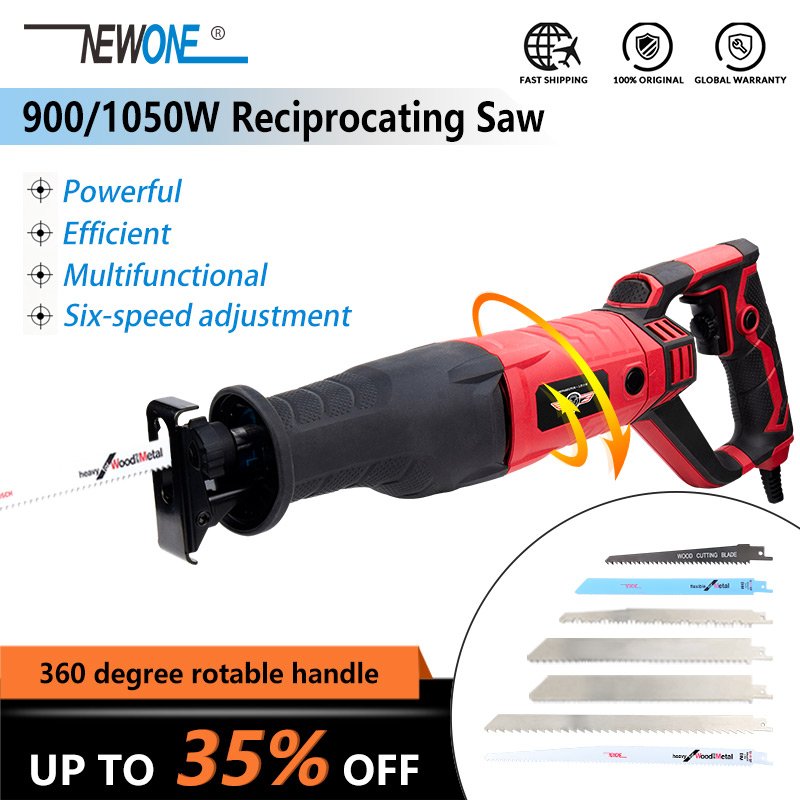 Electric 900W/1050W Reciprocating Saw Saber Saw Hand Saw For Wood Metal Plastic Meat Bone Cutting Multi Function Saw With Blade