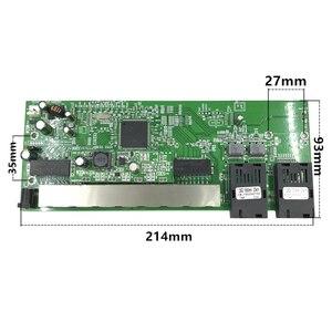Image 4 - 逆 POE 10/100/1000 1000m ギガビットイーサネットスイッチイーサネット繊維光学シングルモード 8 RJ45 UTP & 2 SC ファイバポートボード SFP3KM