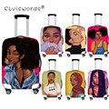 Elviswords capa protetora de bagagem preto arte afro meninas acessórios de viagem para 18-30 Polegada trolly mala capa à prova de poeira sacos