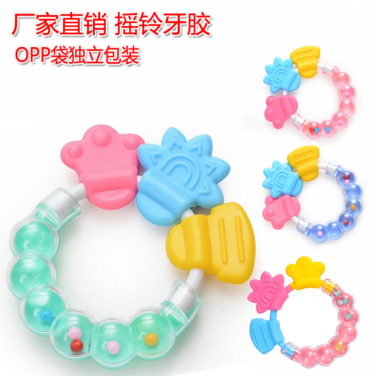Grinding Teeth, Solid Teeth, Baby Rattle, Bite, Silicone, Teether, Molar Stick, Baby Bite. 1 Random Delivery