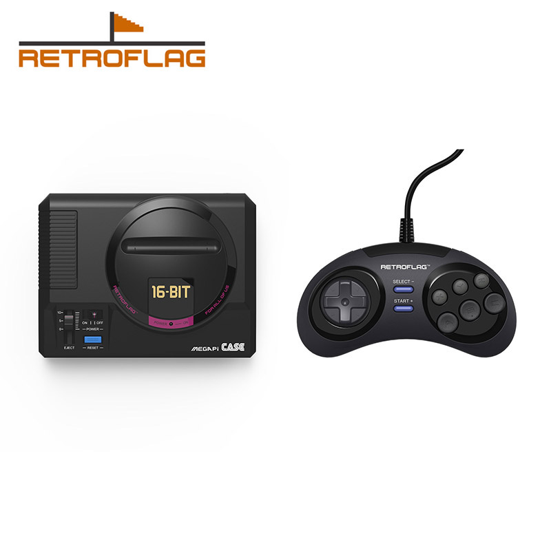 Retroflag MEGAPi Case /Wired Game Controller Functional Button for Raspberry Pi 3 B Plus (3B+) / 3B / 2B
