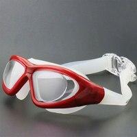 Men's Anti fog Waterproof UV Protection Integration Goggles Women's Universal Large Face Frame Swimming Glasses Óculos de segurança     -