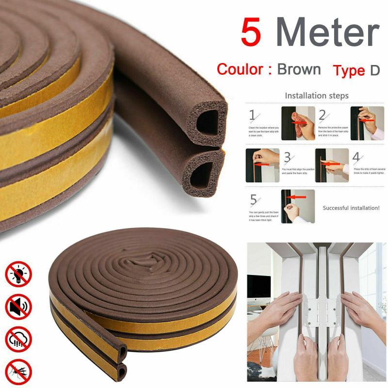 5/10m flexível porta inferior tira de vedação guarda aferidor rolha porta weatherstrip guarda vento poeira blocker sealer rolha vedação da porta