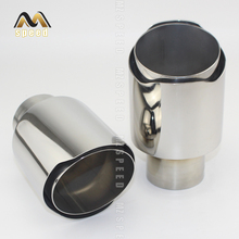 Free shipping Newest Style stainless steel universal exhaust system end pipe+car exhaust tip Accessories car 1 piece 1pc 3 5ml hussar the end style rta 22mm rebuildable tank atomizer 316 stainless steel with free one 510 drip tip