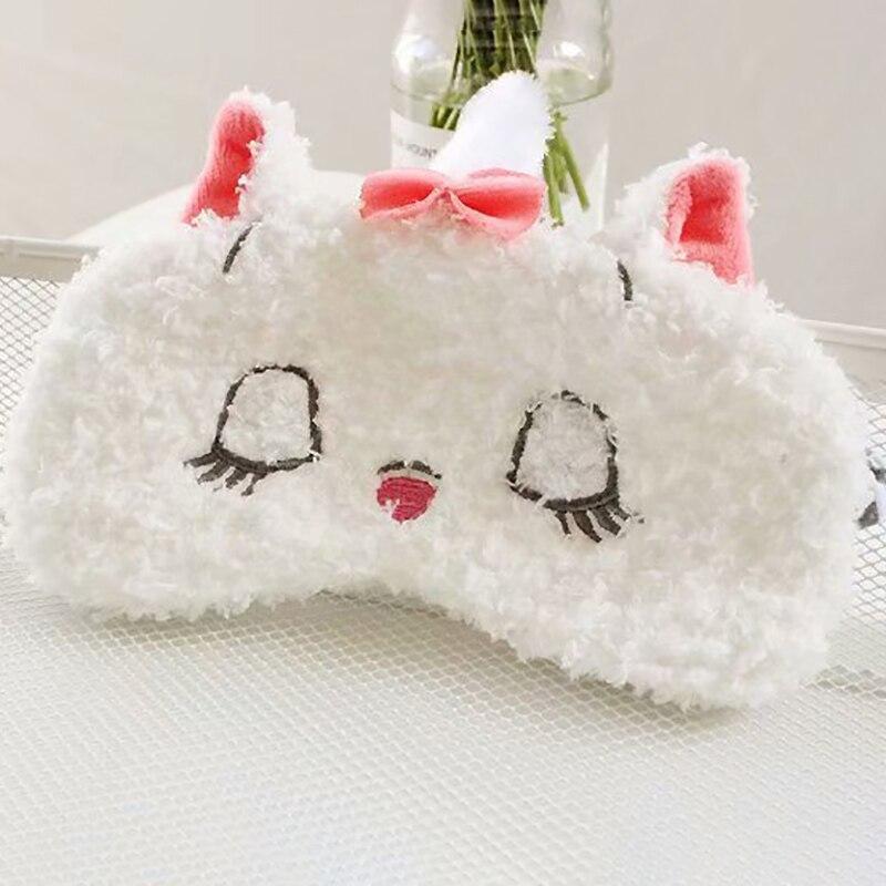 Lovely Unicorn Plush Sleeping Mask Cartoon White Bear Blindfold Travel Sleep Eye Mask  Plush Travel Gifts For Children