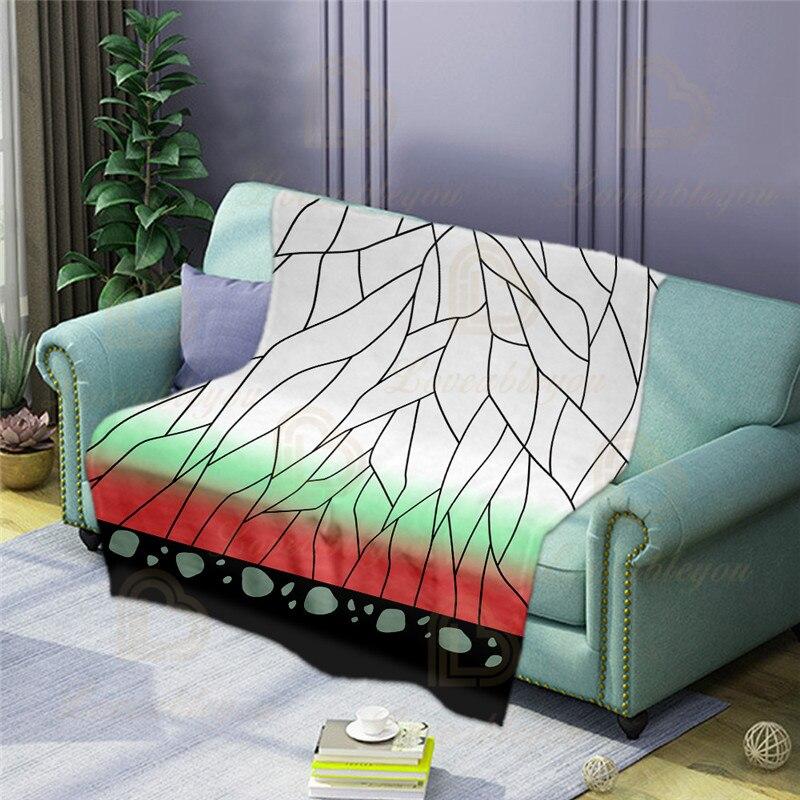 Новинка 2020, мягкое теплое фланелевое одеяло с тематикой игры рассекающее демонов, переносное удобное одеяло для путешествий на самолете, ав...
