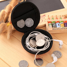 VOGVIGO Mini Solid Coin Purses Money Earphone Storage Bags Organiser Zipper Bag Change Pouch Case Pouch New Travel Round Wallet