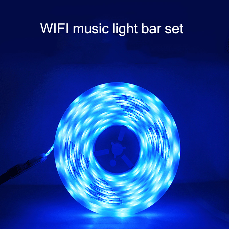 LED Light Strip With 5050RGB Music Light Strip Wifi Smart Graffiti Light Strip Set Voice Control Light Strip For Room LED Light