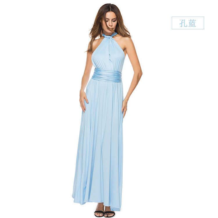 Sexy Frauen Multiway Wrap Cabrio Boho Maxi Club Kleid Bandage Lange Kleid Party Brautjungfern Unendlichkeit Robe Femme elegante Kleid
